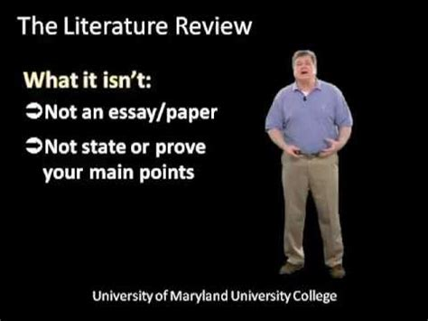 Writing a Literature Review for ThesisDissertation How